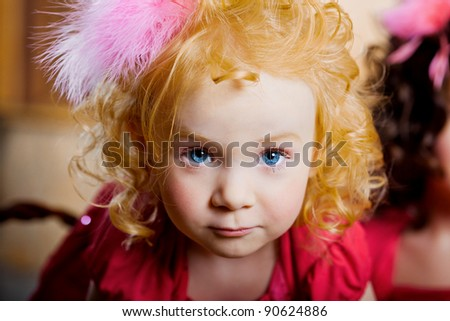 The image of a child, a little beautiful girl - stock photo