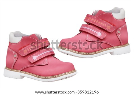 The image of a children's shoes