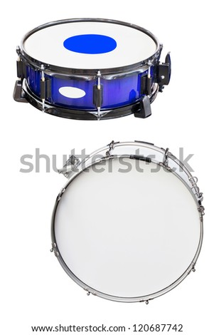 The image of a drums under a white background