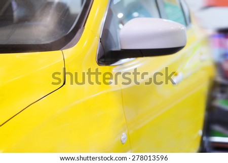The image of a taxi yellow cab - stock photo