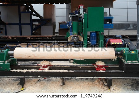 The image of a woodworking factory
