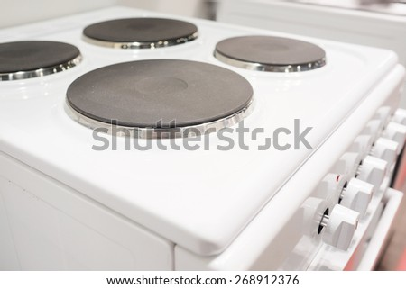 The image of an electric stove - stock photo