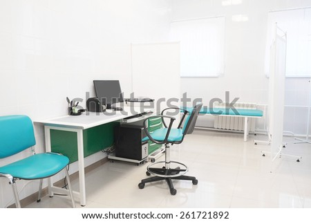 The image of an empty doctor's room