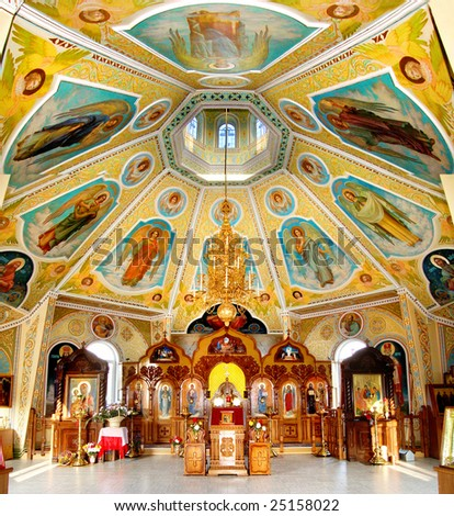 The image of an interior of an orthodox temple