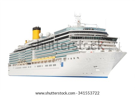 The image of an isolated cruise liner