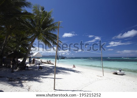 the image of beach in the Philippines