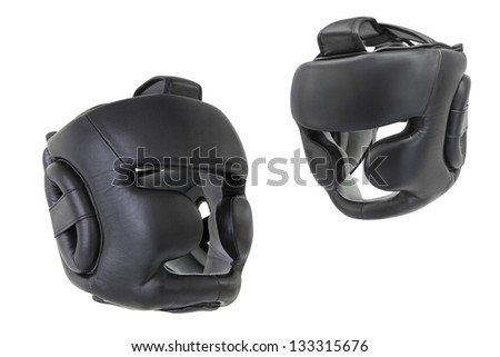The image of boxing helmets
