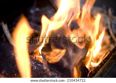 The Image Of Charcoal Fire
