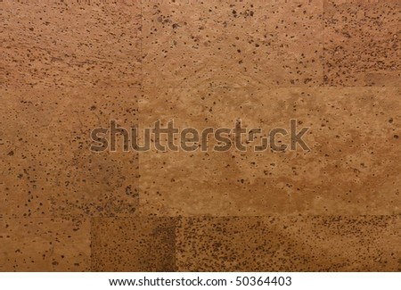 The image of cork wood planks. - stock photo