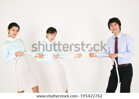 The image of flight assistant in Korea, Asia - stock photo