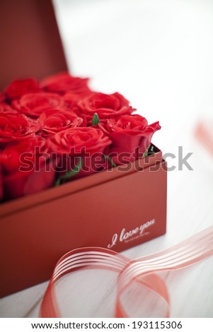 the image of flowers in box