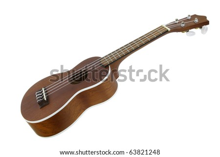 The image of guitar under the white background