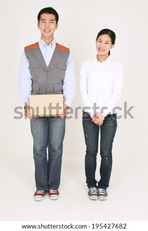 The image of high school student in Korea, Asia - stock photo