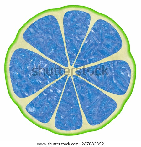 The image of illustrations of different color versions of citron fruit. - stock photo