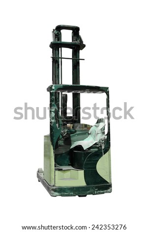 The image of loader under the white background  - stock photo