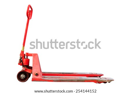The image of manual loader - stock photo