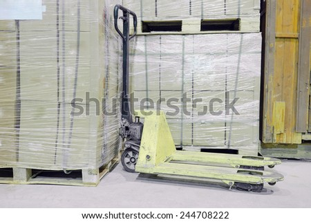 The image of manual loader under the white background  - stock photo