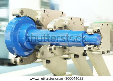 The image of metal-working machine - stock photo