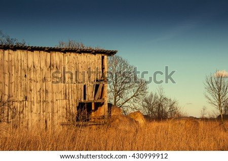 The image of old shed