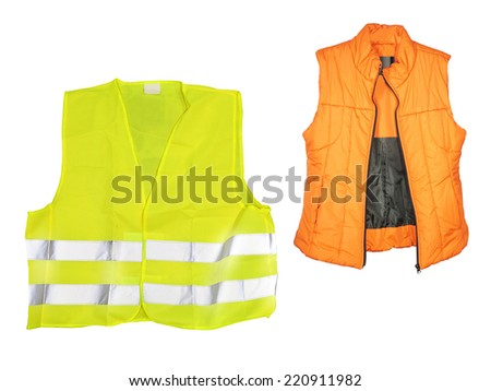 The image of orange jacket under the white background