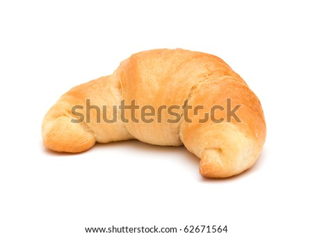 The image of the croissant isolated on white