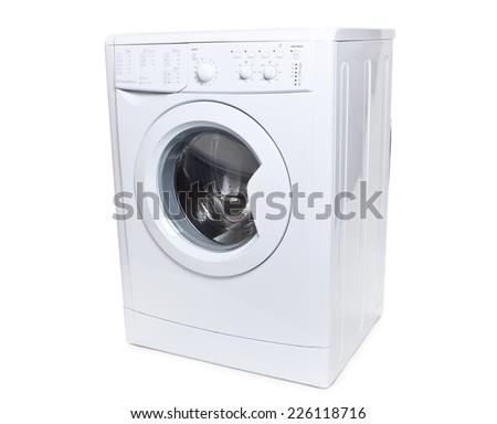 The image of washer under the white background. - stock photo