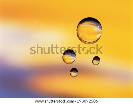 The image of water drop - stock photo