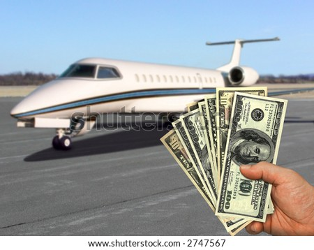 The image represents the things that you can buy. With little or with a lot of money, you can reach your dreams. - stock photo