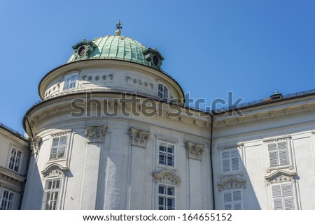 The Imperial Palace (Hofburg), the former Habsburg palace in Innsbruck, Austria.