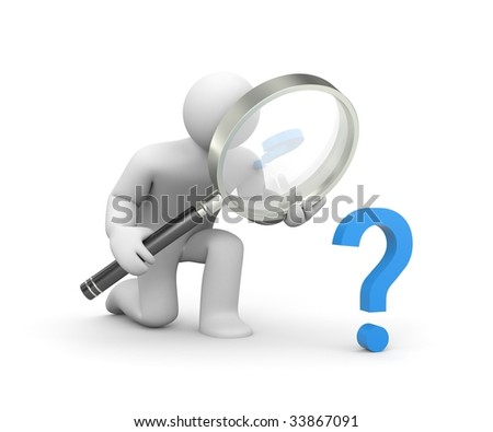 The important question - stock photo
