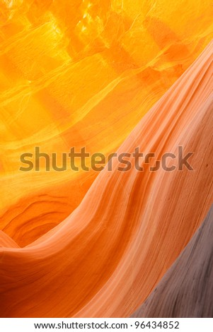 "The impressing Slot Canyon ""Lower Antelope Canyon"" - stock photo"