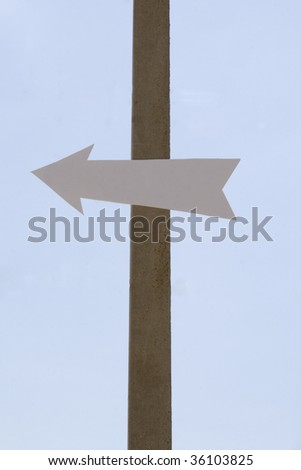 The index of directions on a background of the sky - stock photo