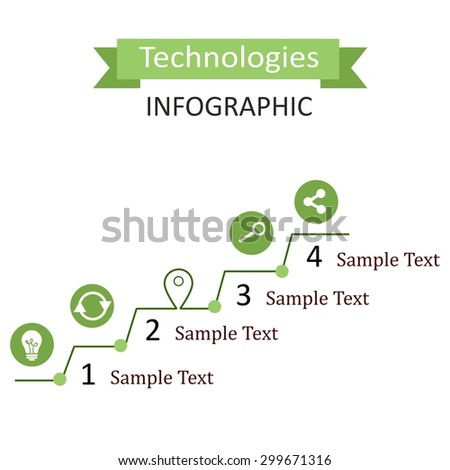 the infographic illustration dedicated to the  technologies. - stock photo