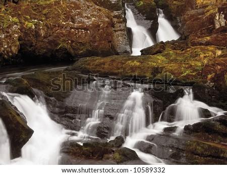 The Ingleton glens the yorkshire dales national park england uk - stock photo