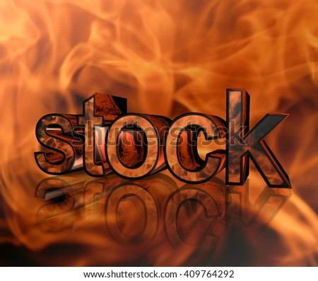 The inscription on the action of fire background - stock photo