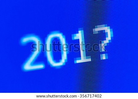 The inscription on the RGB screen: 201?