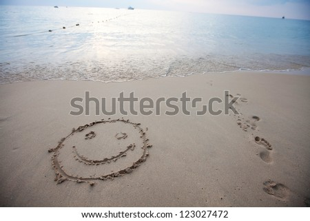 The inscription on the sand. Background. - stock photo