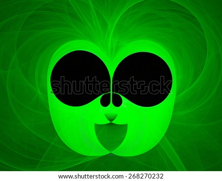 The interesting photo very similar to an extraterrestrial essence generated computer program - stock photo