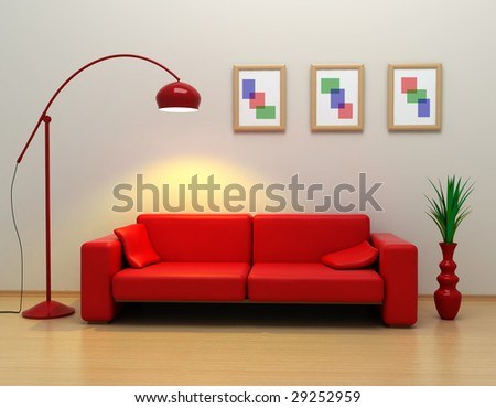 the interior in 3d (high resolution image) - stock photo