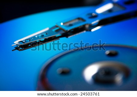 The interior of a Hard Drive
