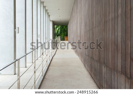 the interior of a office building. - stock photo