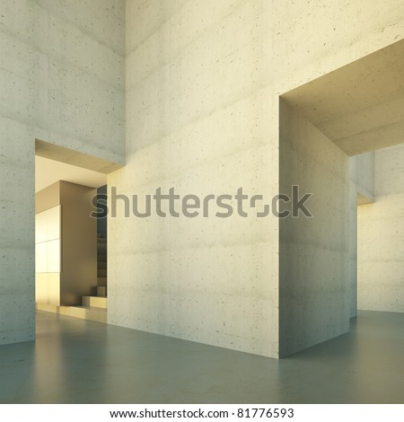 The interior of an empty room