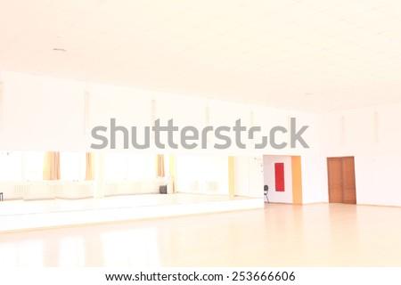 The interior of dance classroom - stock photo