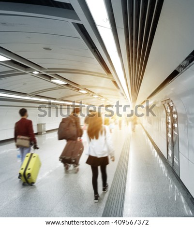 The interior of the building in shanghai china - stock photo