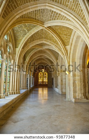 The Interior Of The Cathedral In Burgos, Spain - stock photo