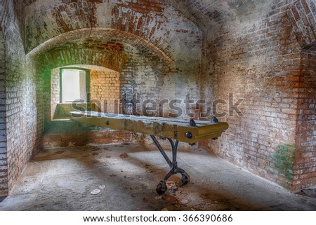 The interior of the historic Civil War fort and prison for confederate soldiers Fort Jefferson
