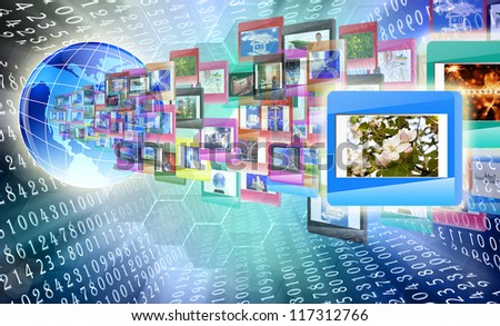 The Internet education - stock photo