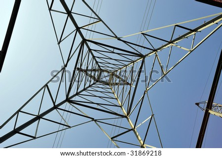 The intricate geometry of high voltage electric transmission towers
