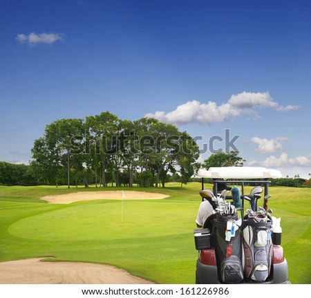 The island of Bali. Golf Courses - stock photo
