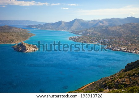 The island of Spinalonga is located at the eastern section of Crete, in Lasithi prefecture, near the town of Elounda.
